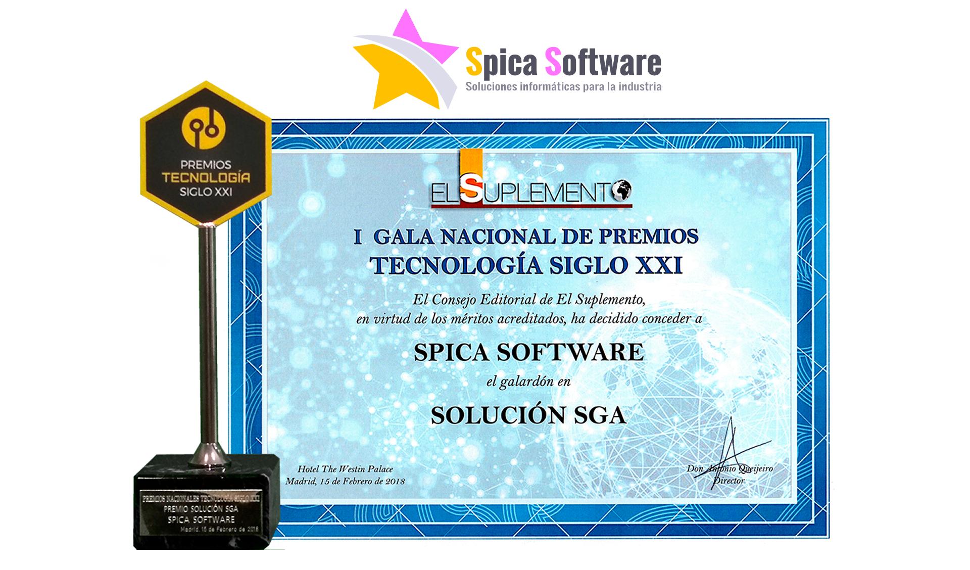 Premio Tecnología Siglo XXI. Software SGA
